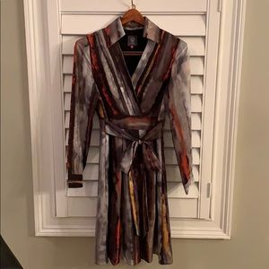 NWOT Vince Camuto faux wrap dress with self belt